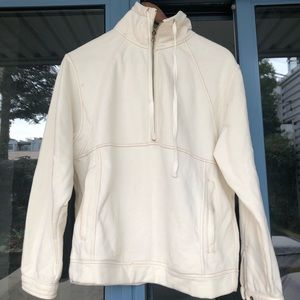 "Urban Outfitters Cream Half Zip-Up""Out From Under"""